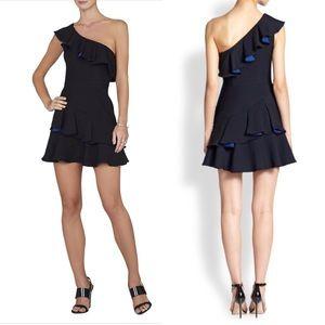 BCBG Maxazria Calinda ruffle one shoulder dress 10